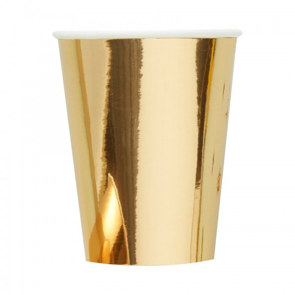 Partybecher GOLD 8 Stk.