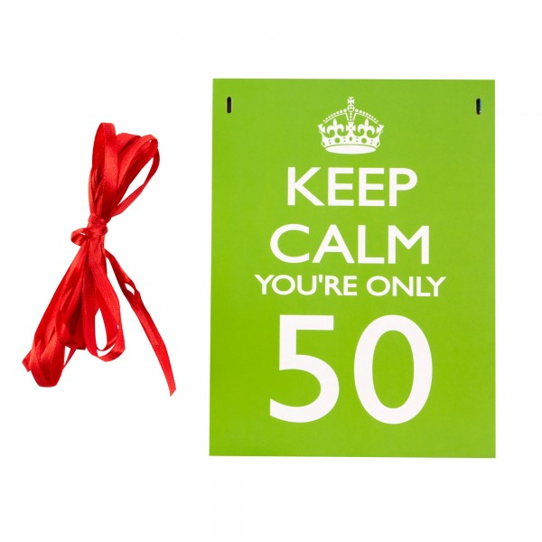 Girlande KEEP CALM 30, 40. & 50. Geburtstag