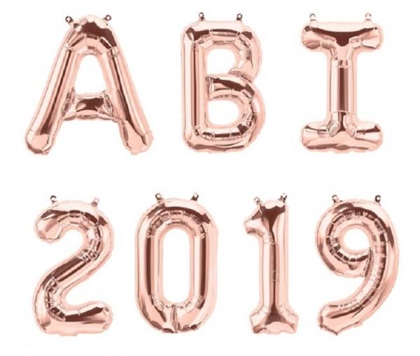 Folienballon ABI 2019 roségold