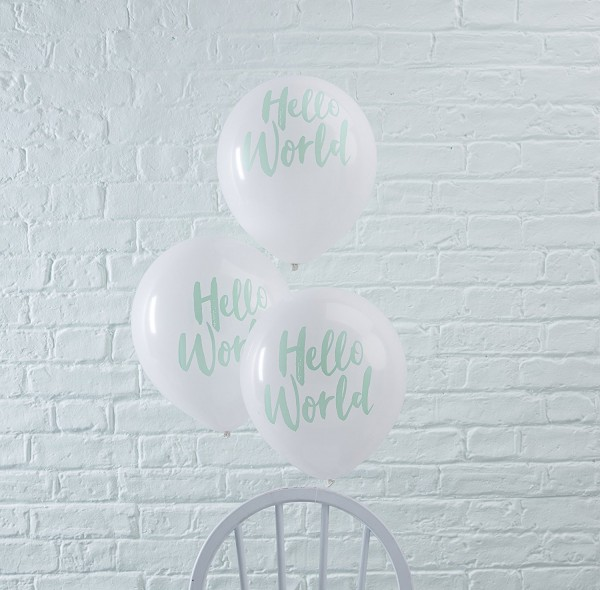 Luftballons Hello World 10 Stk.