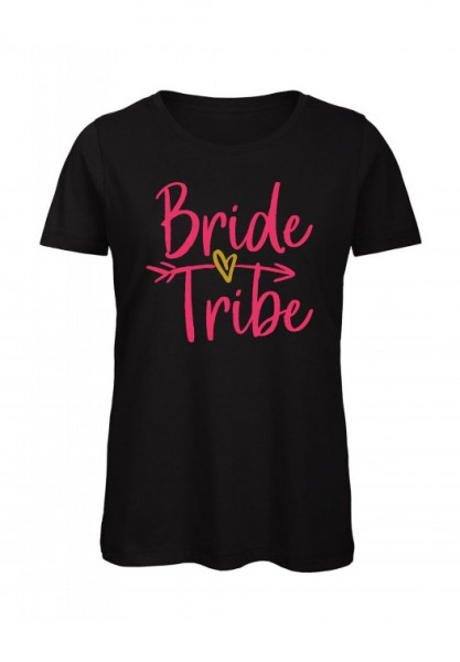 JGA T-Shirt BRIDE TRIBE pink-gold