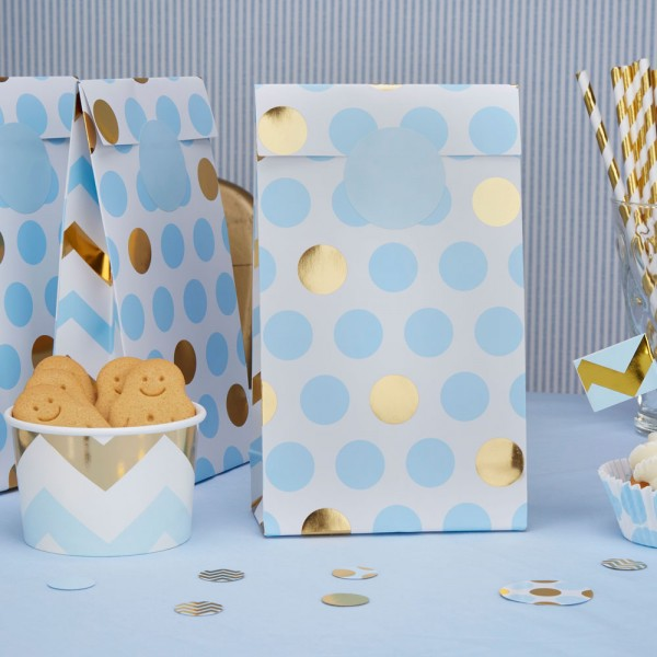 Party Bags in Blau, 5 Stk.
