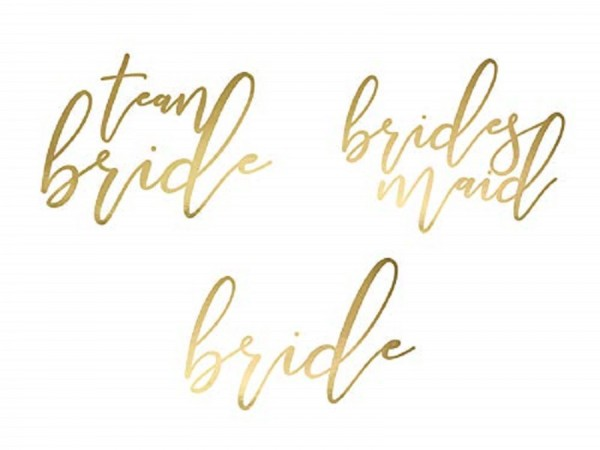 Tattoo Set JGA TEAM BRIDE in Gold