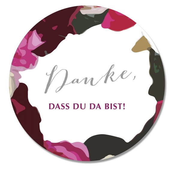 Sticker Danke BOHO FLOWER