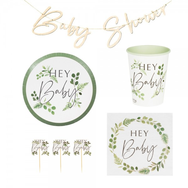 Baby Shower Party in a Box Botanical 45-tlg.