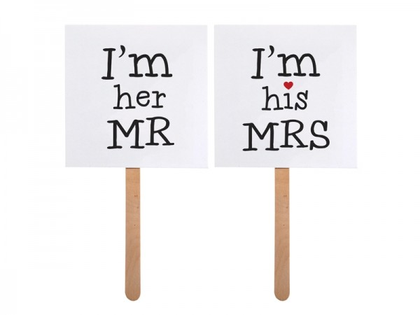 Photo Booth Props I'm her MR / I'm his MRS