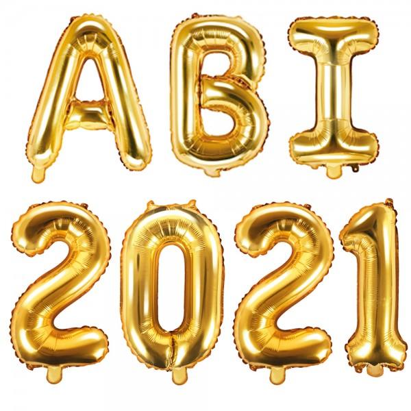 Folienballon ABI 2021 gold