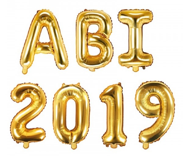 Folienballon ABI 2019 gold