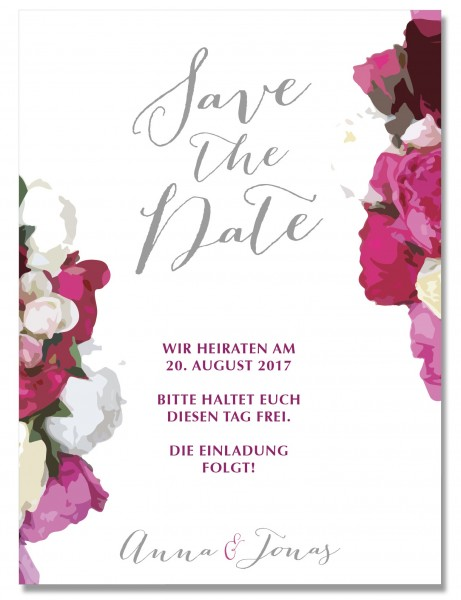 Save the Date BOHO FLOWER