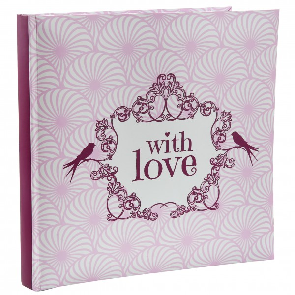 "Gästebuch ""with Love"", Rosa"