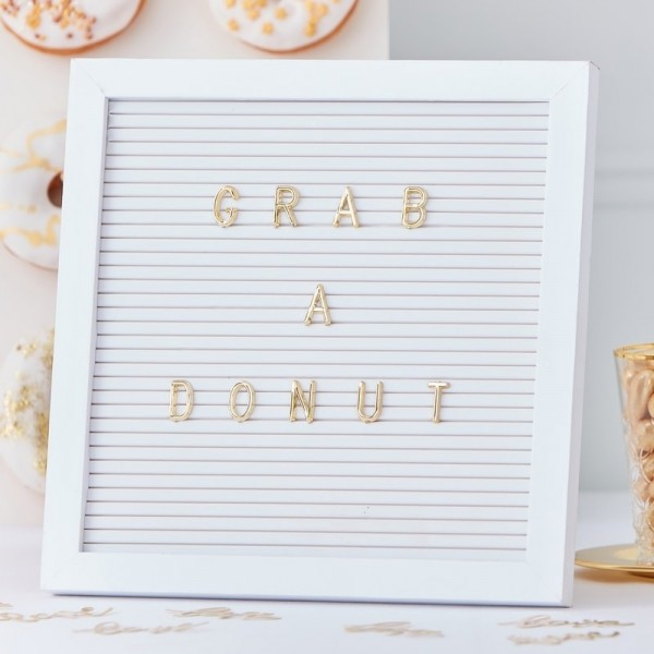 Letter Board weiß GOLD GLAM WEDDING