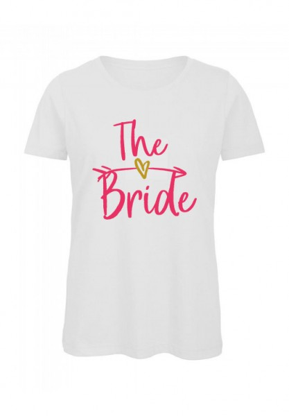 JGA T-Shirt THE BRIDE pink-gold