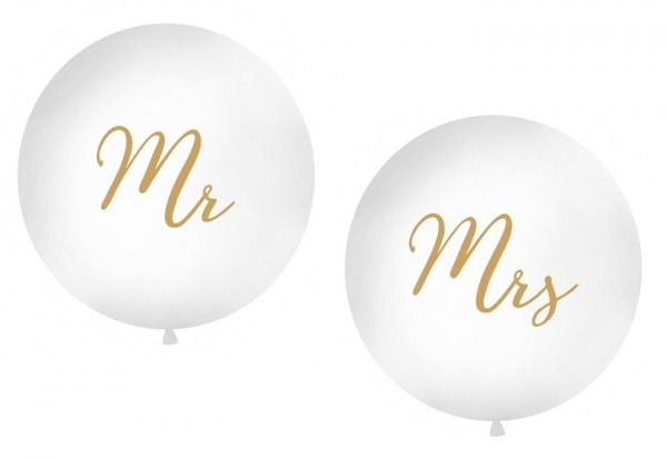 Riesenluftballons MR & MRS gold