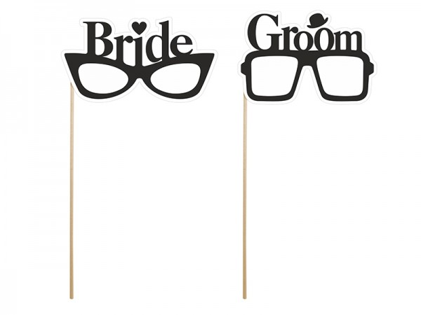 Photo Booth Props Bride & Groom