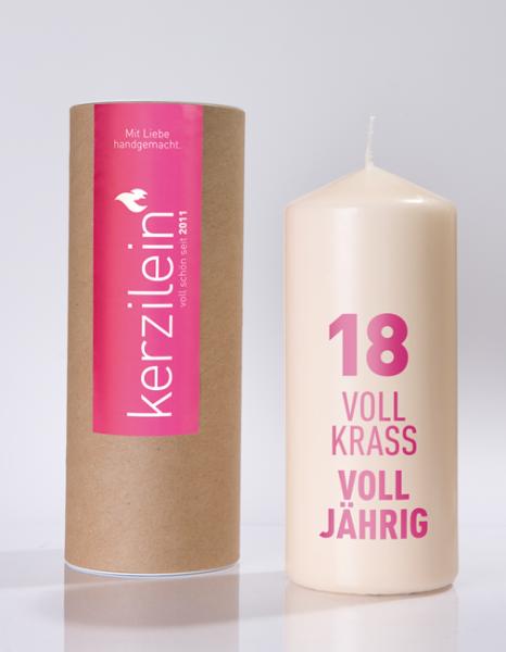 Kerze 18. Geburtstag pink