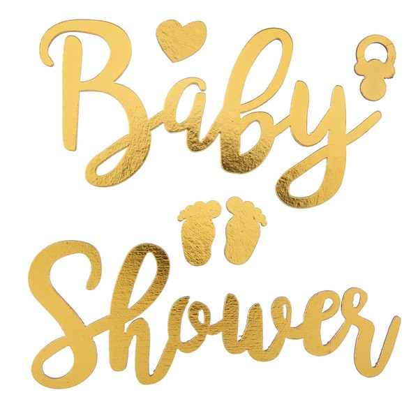 BABY SHOWER Sticker gold