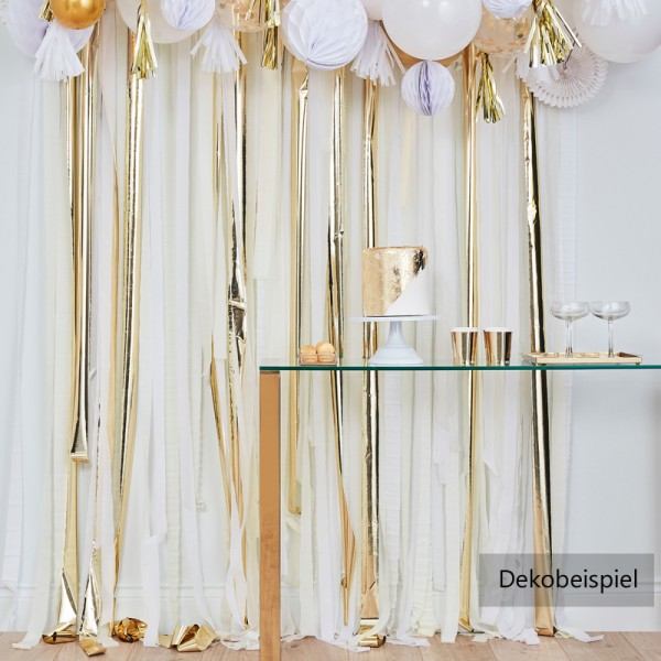 Party Backdrop gold-weiß-creme