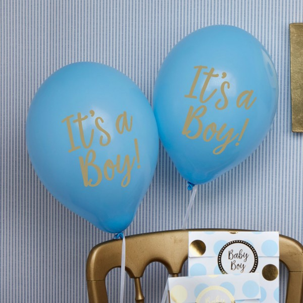 Luftballons It's a Boy, blau