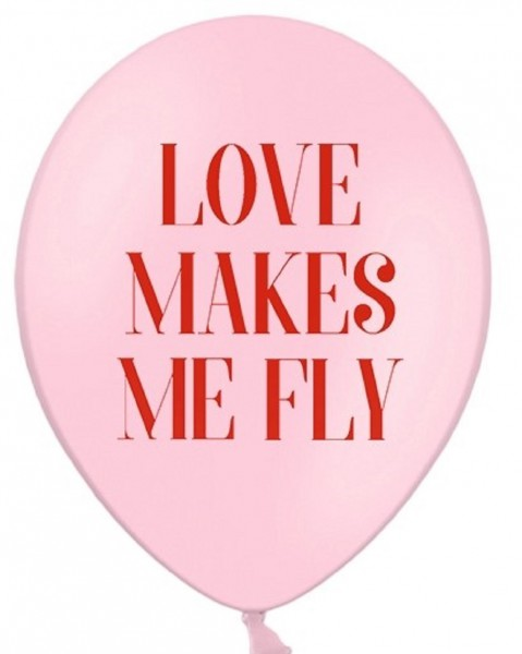 Luftballons LOVE MAKES ME FLY 6 Stk.