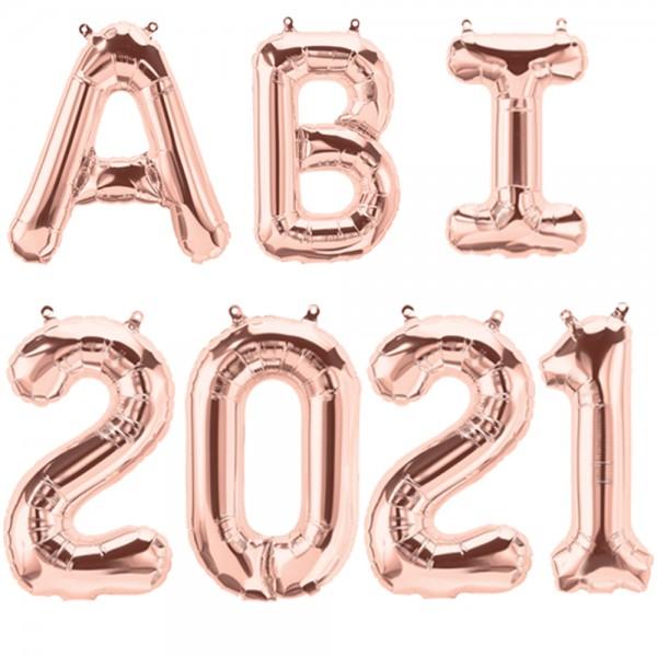 Folienballon ABI 2021 roségold