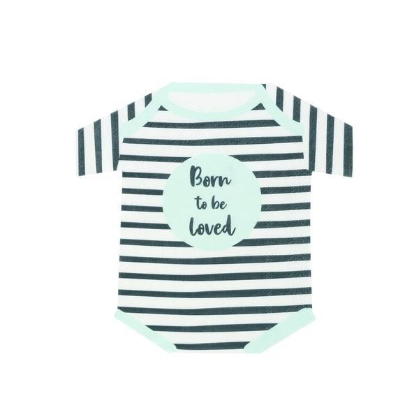 Babyparty Servietten BORN TO BE LOVED 16 Stk.