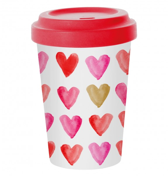 Bamboo Coffee-To-Go Becher HEART