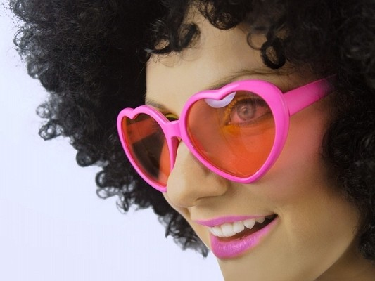 Herzbrille in Pink