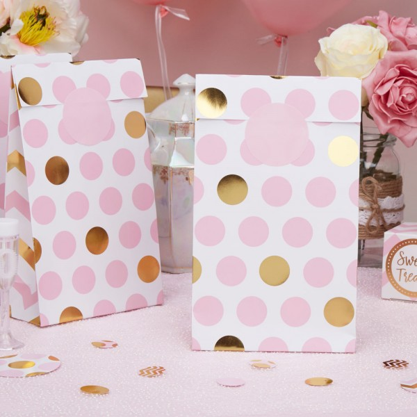 Party Bags in Pink, 5 Stk.