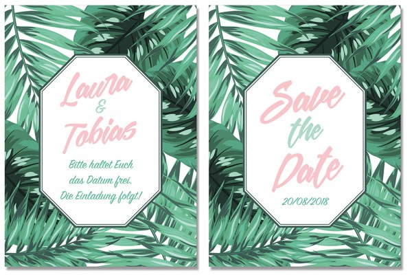 Save the Date TROPICAL BLISS