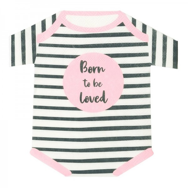 "Babyparty Servietten""Born to be loved"" rosa"