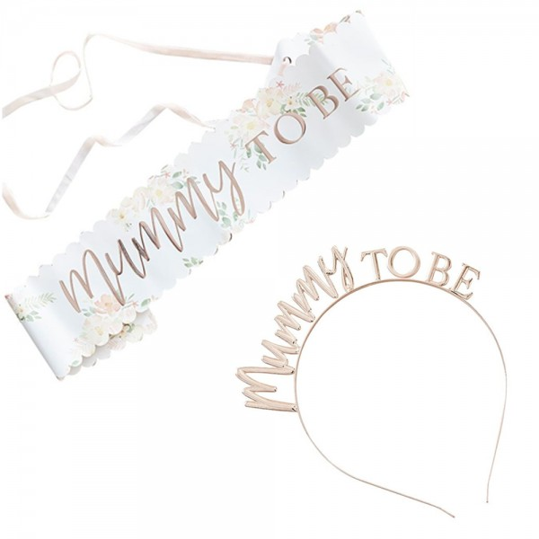 Baby Party Accessoires Mummy to be 2 tlg.