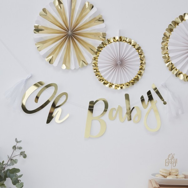 Tasselgirlande OH BABY | Babyparty