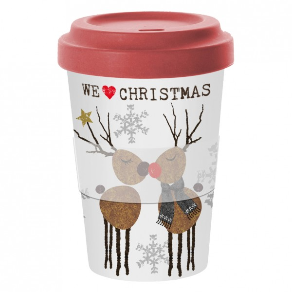 Bamboo Coffee-To-Go Becher We love XMAS