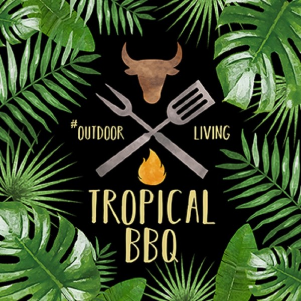 Servietten TROPICAL BBQ