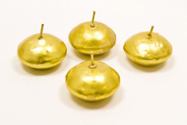 Schwimmkerzen gold, 4 Stk.