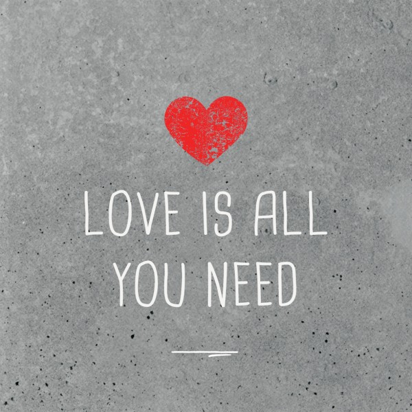 Servietten Love is all you need