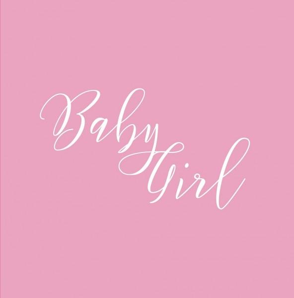 Babyparty Gästebuch BABY GIRL