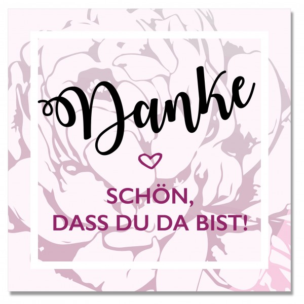 Sticker Danke FLOWER BOMB