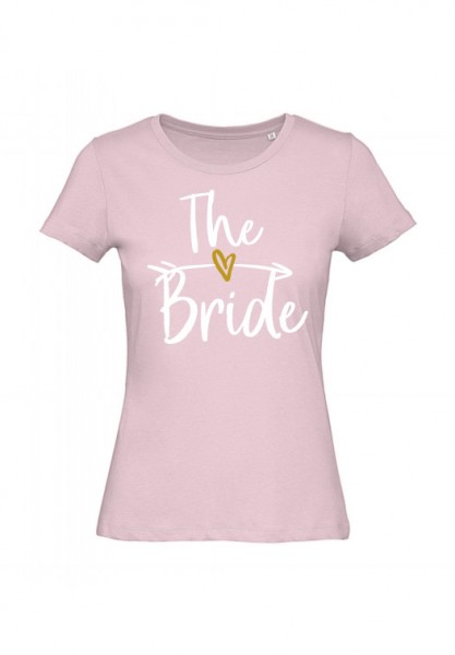 JGA T-Shirt THE BRIDE weiss-gold