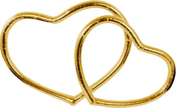 Autoschmuck Set Herzen in Gold