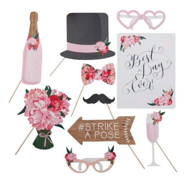 Photo Booth Requisiten Flowers-Boho