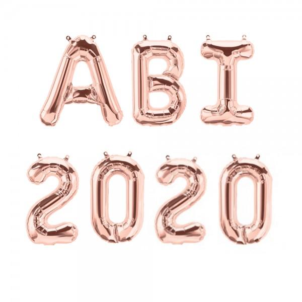Folienballon ABI 2020 roségold