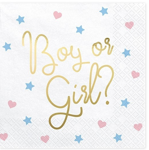 Servietten Babyparty BOY OR GIRL? 20 Stk.