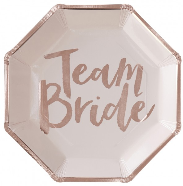 Partyteller TEAM BRIDE 8 Stk.
