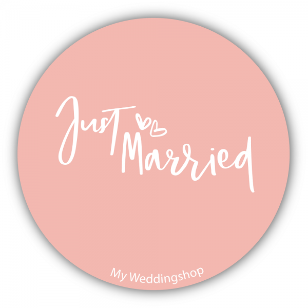 Aufkleber Sticker JUST MARRIED 10 Stk.