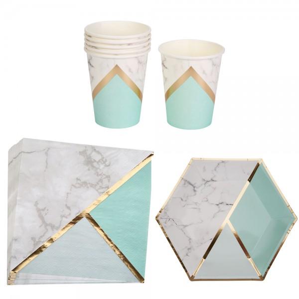 Partyset Marble Mint