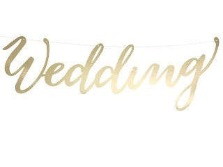 Girlande WEDDING, gold